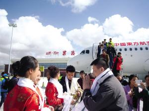 我省第六座民用支线机场果洛玛沁机场试飞成功