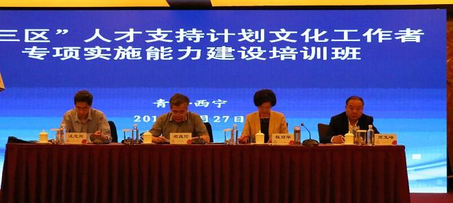 """全国""""三区""""文化人才支持计划培训班在西宁开班"""