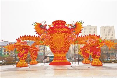 扎龙门,架彩灯,欢欢喜喜迎新春