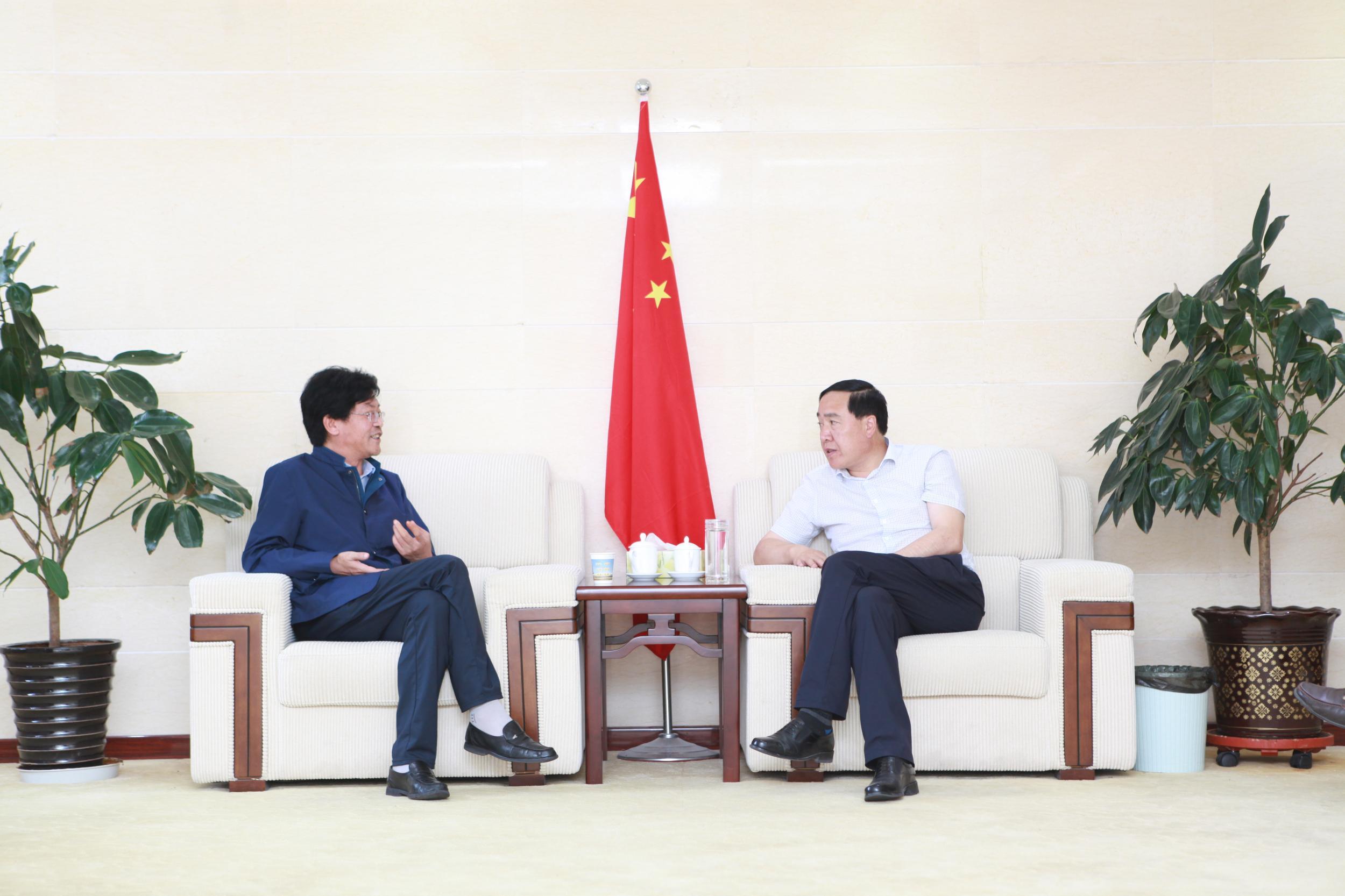 师存武会见河南特耐工程材料股份有限公司董事长张长喜一行