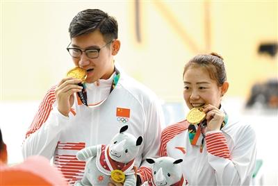 纪晓晶吴嘉宇夺亚运会10米气手枪混合团体赛冠军