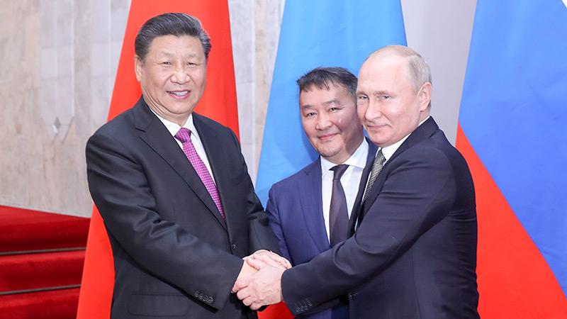 习近平出席中俄蒙元首第五次会晤