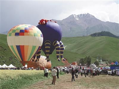 祁连风情文化旅遊节暨国际飞行节盛大开幕