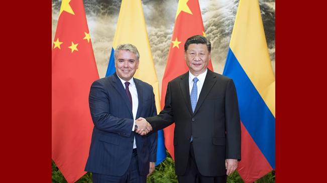 习近平同哥伦比亚总统杜克举行会谈