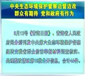 中央生态环境保护督察边督边改第18批公开信息