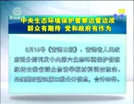 中央生态环境保护督察边督边改第22批公开信息