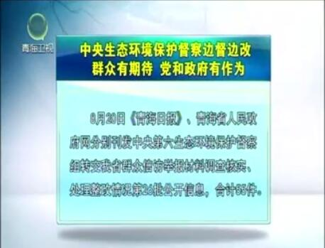 中央生态环境保护督察边督边改第26批公开信息