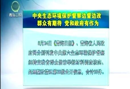 中央生态环境保护督察边督边改第30批公开信息
