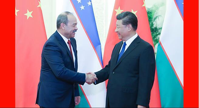 習近平會見烏茲別克斯坦總理阿里波夫
