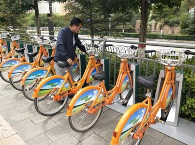 15个公共自行车停放点亮相海湖