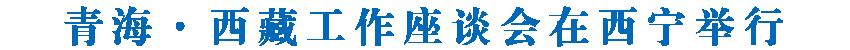 西藏自治区党政代表团在青海考察 青海·西藏工作座谈会在西宁举行 吴英杰讲话 王建军主持并讲话 齐扎拉刘宁分别介绍两省区经济社会发展情况