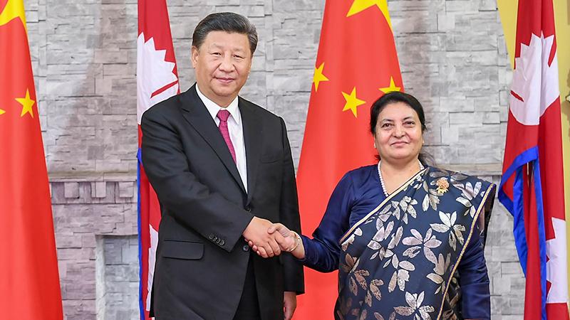 习近平会见尼泊尔总统班达里 两国元首共同宣布建立中尼面向发展与繁荣的世代友好的战略合作伙伴关系