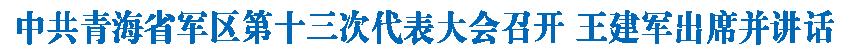 中共青海省��^第十三次代表大��召�_ 王建�出席�K�v�