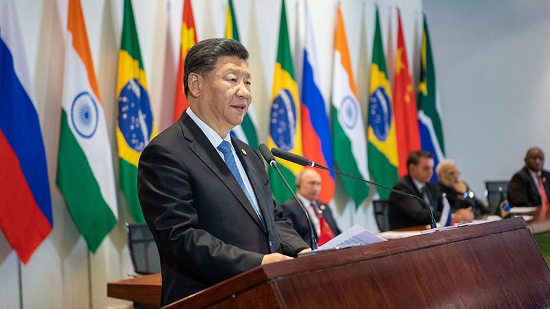 习近平出席金砖国家领导人同金砖国家工商理事会和新开发银行对话会