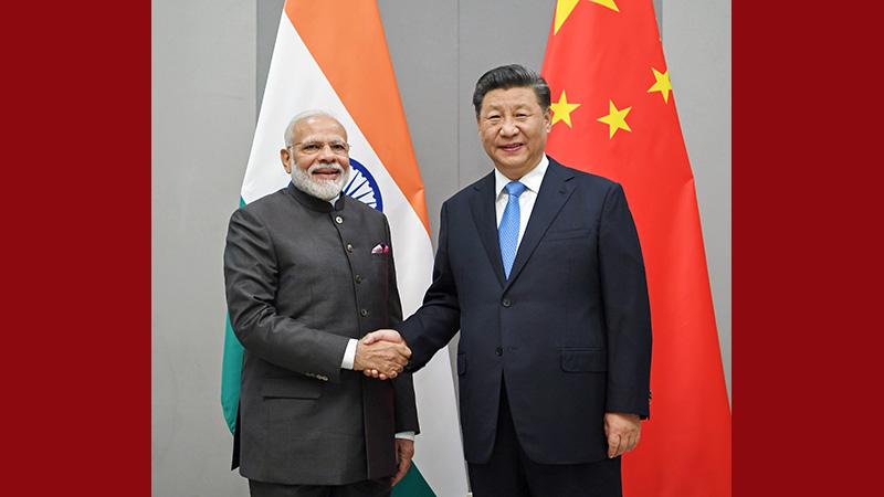 习近平会见印度总理莫迪