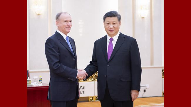 习近平会见俄罗斯联邦安全会议秘书帕特鲁舍夫
