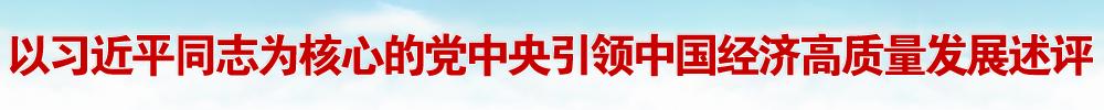 以习近平同志为核心的党中央引领中国经济高质量发展述评