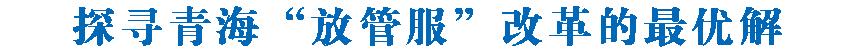 """探寻青海""""放管服""""改革的最优解  ——2019年我省""""放管服""""改革系列报道(一)"""