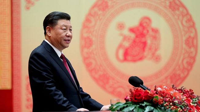 中共中央國務院舉行(xing)春節(jie)團拜會 習(xi)近平發表講bu)