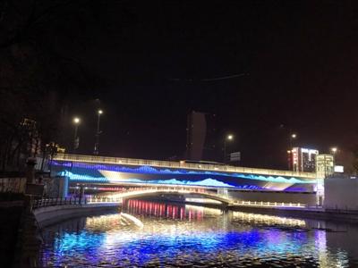 西关桥下层人行桥建成通行
