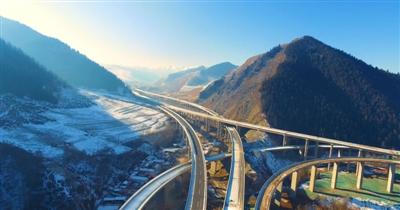 仙米至大通段公路建成通车