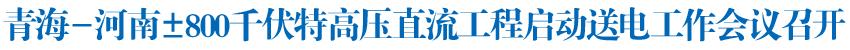 青海-河南±800千伏特高压直流工程启动送电工作会议召开王国生王建军毛伟明讲话 尹弘出席