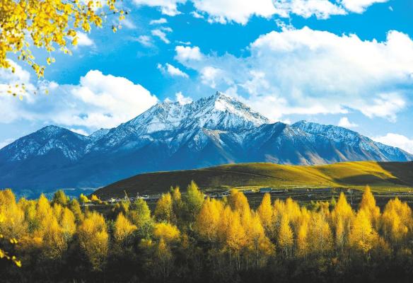 祁连山的四季