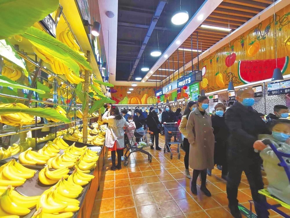 大年初四的城南新區一家親超市