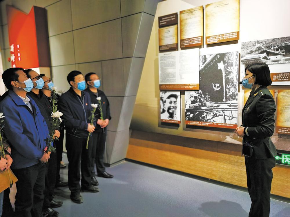 中国工农红军西路军纪念馆接待参观