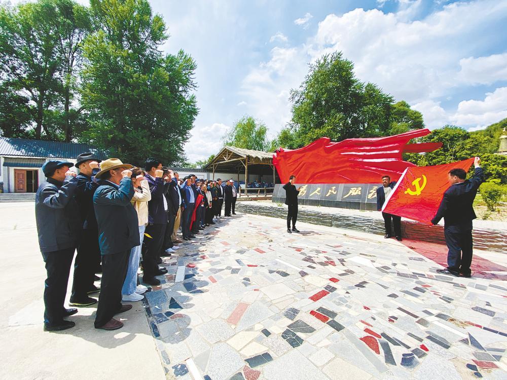 贵德县多村联合开展党史学习教育主题党日活动